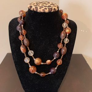 Jewelry - Dark brown beaded necklace 17""